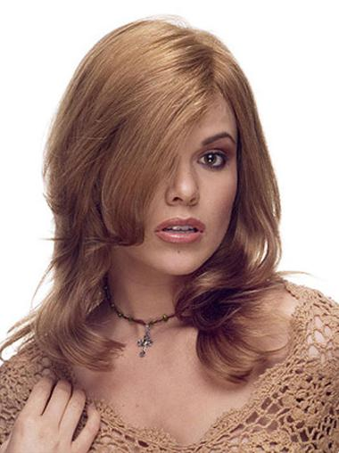 Lace Front Wavy Remy Human Hair Durable Long Wigs