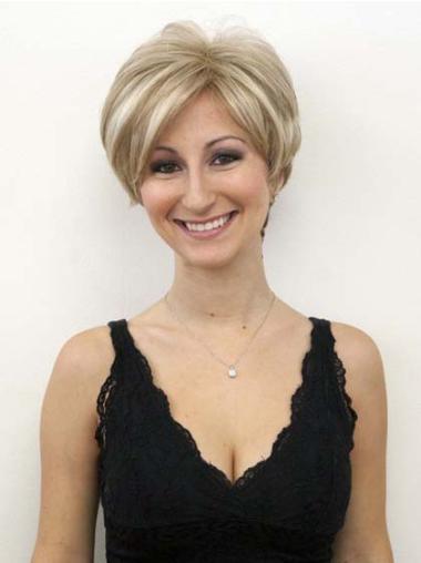 Hairstyles Blonde Wavy Short Celebrity Wigs