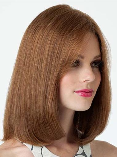 Top Lace Front Straight Shoulder Length Remy Human Lace Wigs