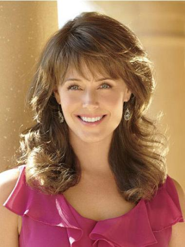 Designed Brown Wavy Long Classic Wigs
