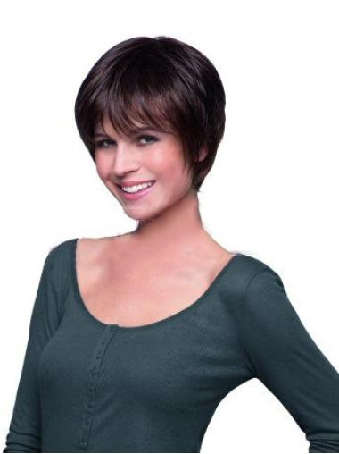 Comfortable Auburn Lace Front Cropped Celebrity Wigs