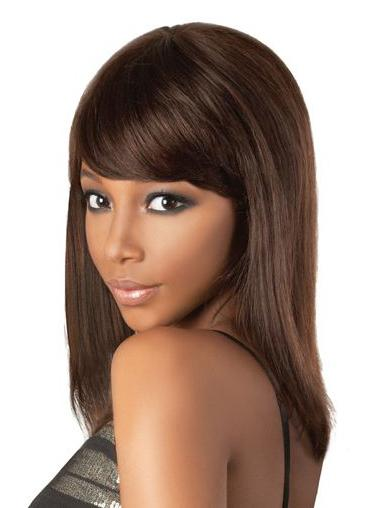 Wholesome Lace Front Straight Shoulder Length Remy Human Lace Wigs