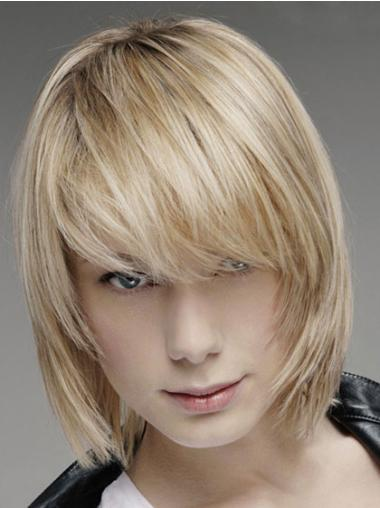 Traditiona Blonde Lace Front Chin Length Men Wigs