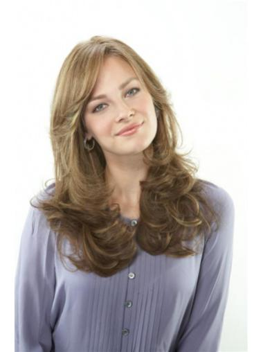 Lace Front Wavy Remy Human Hair Nice Long Wigs