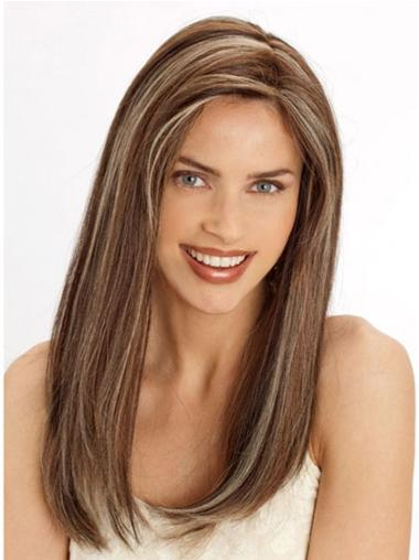 Discount Remy Human Hair Lace Front Straight Long Wigs