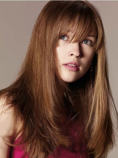 New Auburn Straight Long Human Hair Wigs
