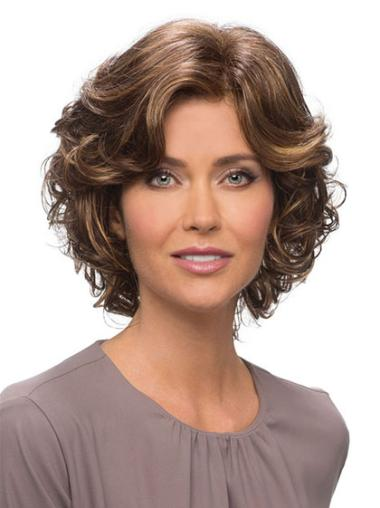 Convenient Lace Front Wavy Chin Length Classic Wigs