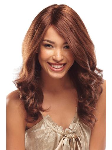 Sleek Monofilament Wavy Long African American Wigs For Cancer
