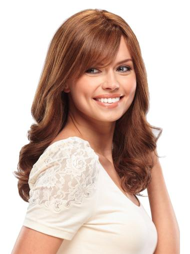 Monofilament Wavy Remy Human Hair Comfortable Long Wigs