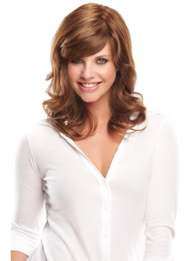 Stylish Monofilament Wavy Shoulder Length Wigs For Cancer