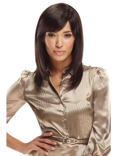 Preferential Monofilament Straight Shoulder Length African American Wigs