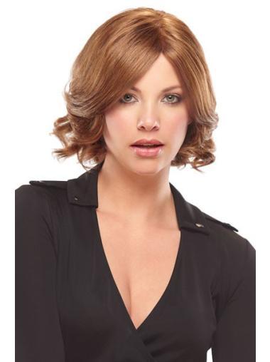 Sassy Remy Human Hair Monofilament Wavy Medium Wigs
