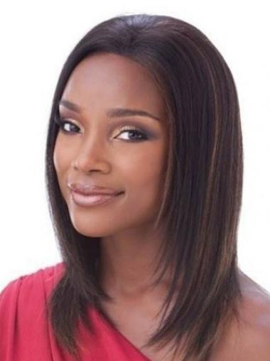 Mature Auburn Lace Front Shoulder Length Wigs
