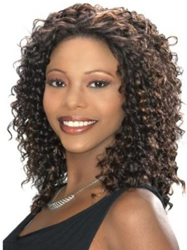 Natural Curly Shoulder Length Celebrity Wigs
