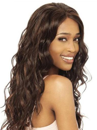 Best Brown Wavy Long Human Hair Lace Front Wigs