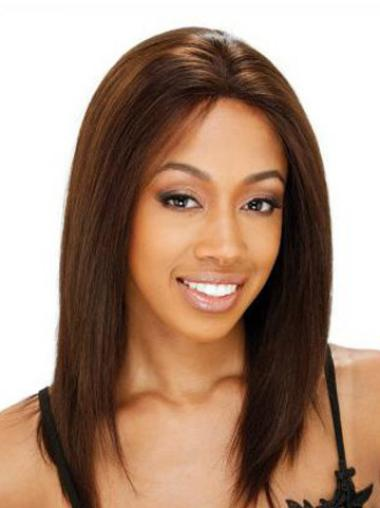 Glamorous Auburn Lace Front Shoulder Length Glueless Lace Wigs