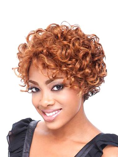 Stylish Auburn Boycuts Curly Short Wigs