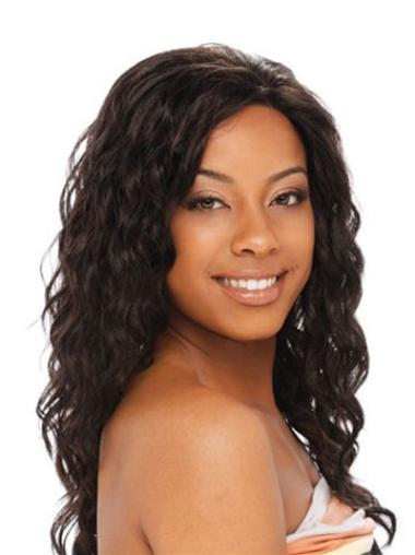 Easeful Brown Curly Long Glueless Lace Front Wigs