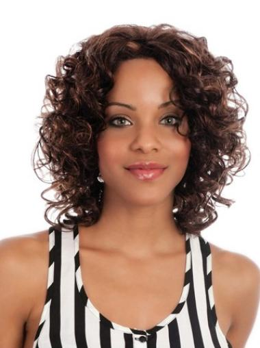 Comfortable Curly Synthetic Medium Wigs