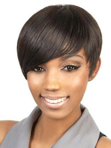 Online Brown Straight Cropped Celebrity Wigs