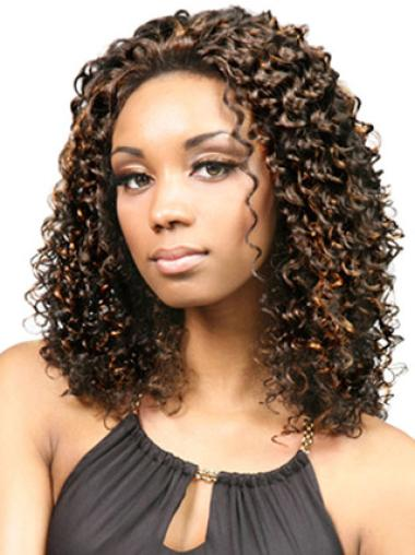 Lace Front Amazing Curly Synthetic Medium Wigs