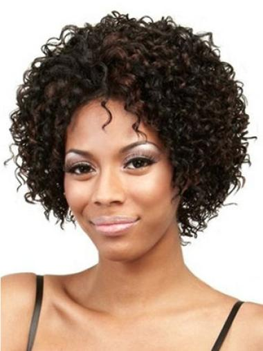 Discount Lace Front Curly Chin Length Lace Wigs