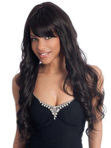 Flexibility Black Wavy Long African American Wigs
