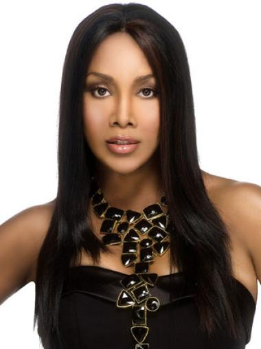 Incredible Black Straight Long African American Wigs