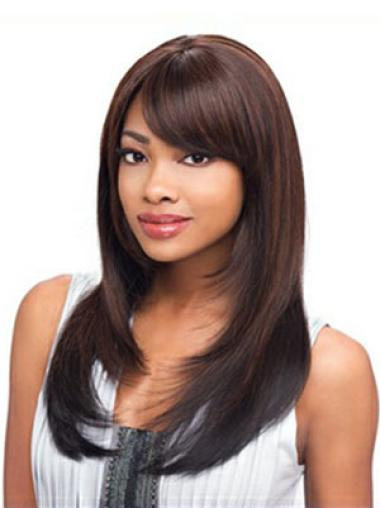Affordable Auburn Straight Long African American Wigs