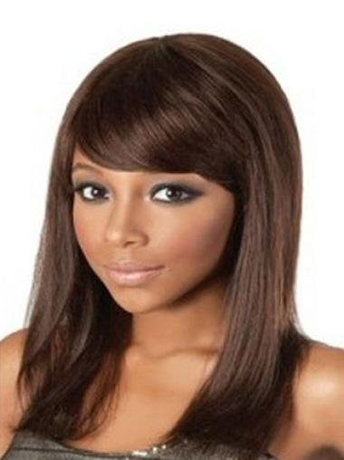 Fashion Auburn Straight Shoulder Length African American Wigs