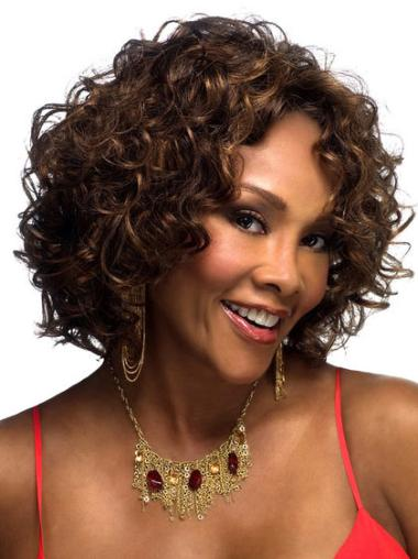 Curly Chin Length Petite Wigs