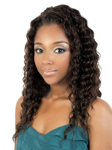 Flexibility Brown Curly Long African American Wigs