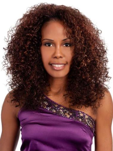Designed Auburn Curly Shoulder Length Wigs