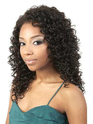 Gorgeous Black Curly Shoulder Length African American Wigs