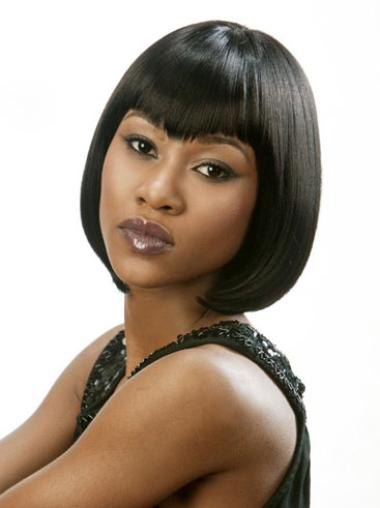 Wholesome Black Lace Front Chin Length Lace Wigs
