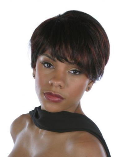 Brown Discount Layered Straight Short Wigs