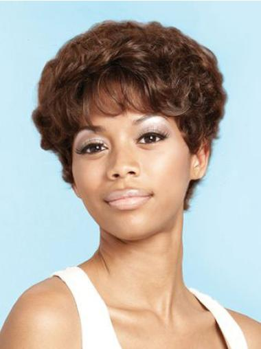 Perfect Brown Curly Short African American Wigs