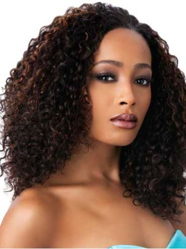 Stylish Brown Curly Long African American Wigs