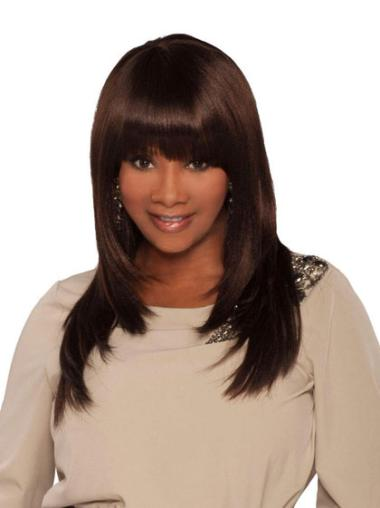 Best Brown Straight Long African American Wigs