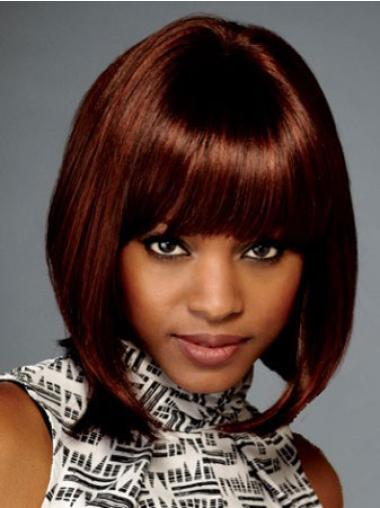 Durable Auburn Lace Front Chin Length Wigs