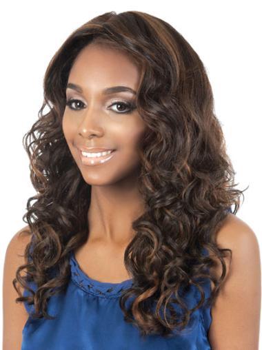 Incredible Brown Curly Long African American Wigs