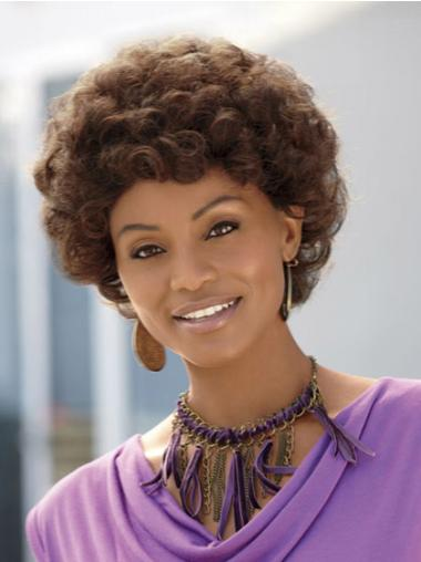 Hairstyles Brown Curly Short African American Wigs