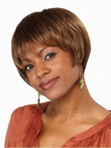 Lace Front Straight Synthetic Short Wigs