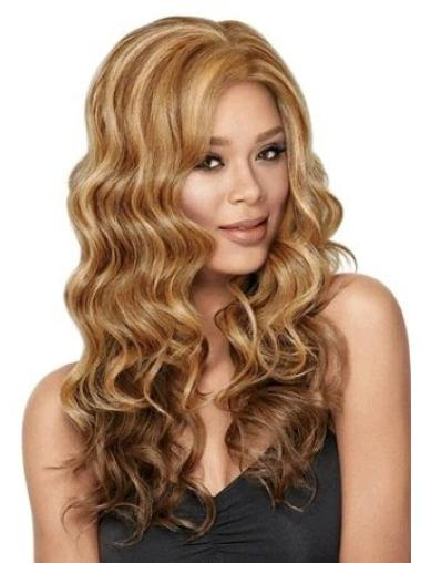 Braw Brown Wavy Long Glueless Lace Front Wigs