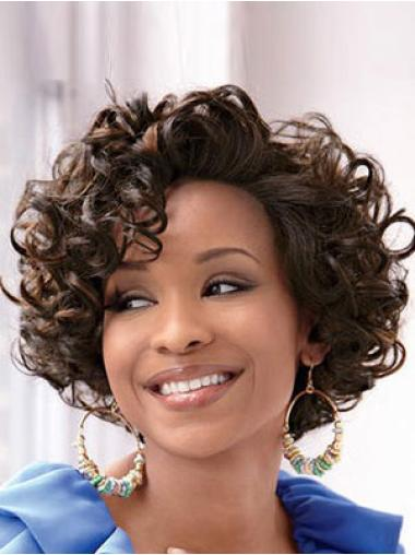 Lace Front Easy Classic Curly Short Wigs Short Black
