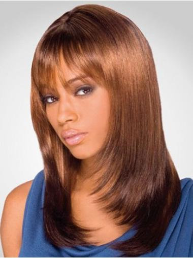 Sleek Auburn Lace Front Shoulder Length Wigs