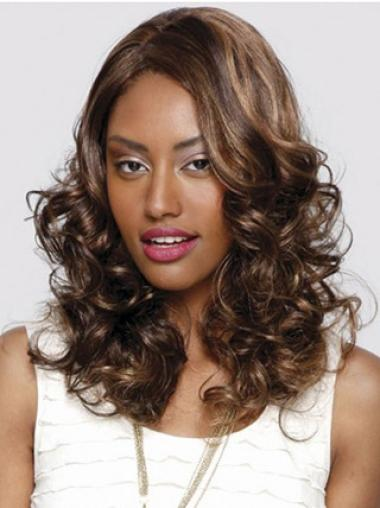 Sleek Auburn Curly Long Glueless Lace Front Wigs