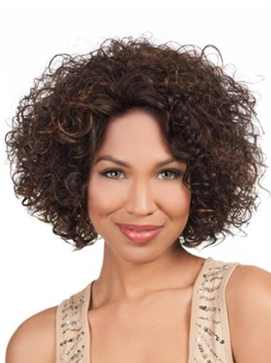 Designed Lace Front Curly Chin Length Lace Wigs