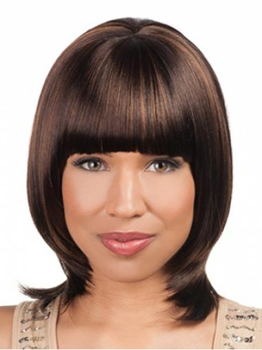 Shining Auburn Lace Front Chin Length Wigs