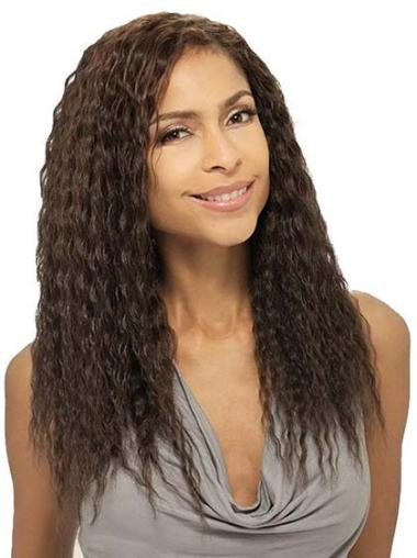 Stylish Brown Wavy African American Wigs